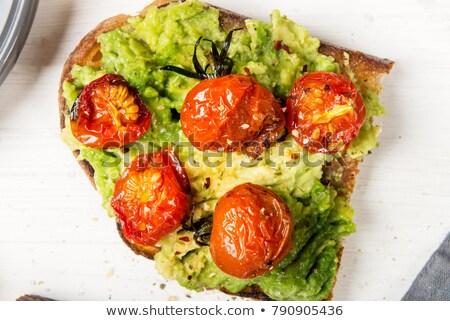 avocado sandwich with tomatoes stock photo © vankad