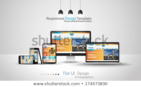 Moderno dispositivos negócio projetos conjunto laptop Foto stock © DavidArts