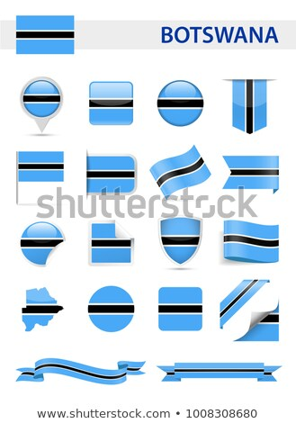 square icon with flag of botswana stock photo © mikhailmishchenko