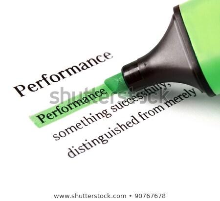 Performances mot livre affaires papier communication Photo stock © tang90246