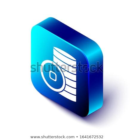 yuan blue square icon stock photo © nickylarson974