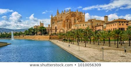 kilise · İspanya · gün · batımı · Bina · şehir - stok fotoğraf © artjazz