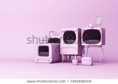 eletrônico · rádio · tubo · velho · cinza · televisão - foto stock © ozaiachin