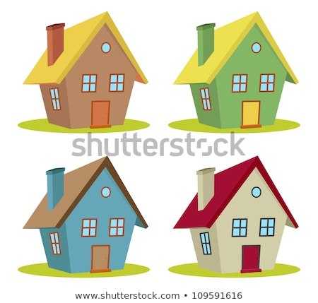 set of four houses with color changes Stock photo © teerawit