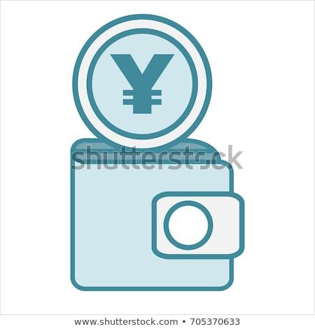 Valuta teken vierkante vector oranje icon Stockfoto © rizwanali3d