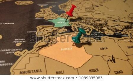 Франция Алжир флагами головоломки изолированный белый Сток-фото © Istanbul2009