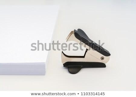 Siyah zımba atış yalıtılmış beyaz Stok fotoğraf © michaklootwijk