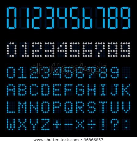 Puntuación bordo azul vector icono diseno Foto stock © rizwanali3d