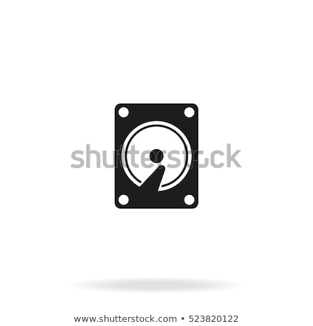 Hard disc icon Stock photo © kiddaikiddee