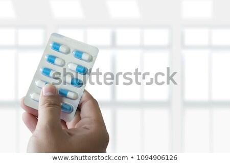 зеленый · таблетки · волдырь · Pack · белый · пакет - Сток-фото © ironstealth