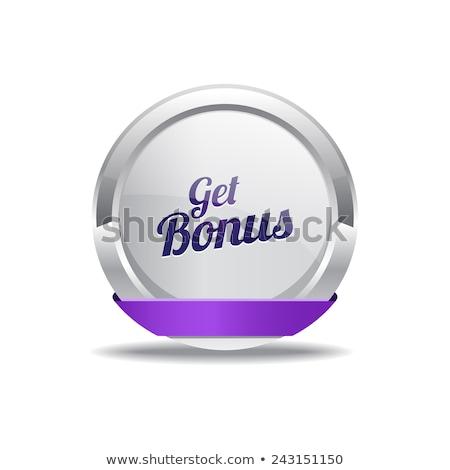 bonus · mor · vektör · ikon · düğme · Internet - stok fotoğraf © rizwanali3d