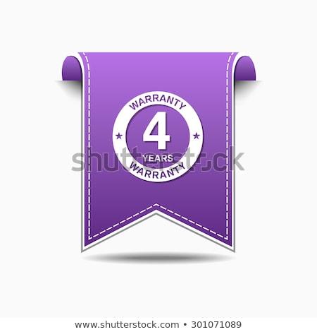 лет гарантия фиолетовый вектора икона дизайна Сток-фото © rizwanali3d