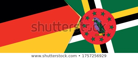Duitsland Dominica vlaggen puzzel geïsoleerd witte Stockfoto © Istanbul2009