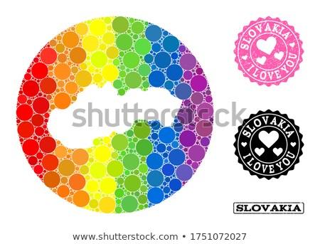 Slowakije homo kaart land trots vlag Stockfoto © tony4urban