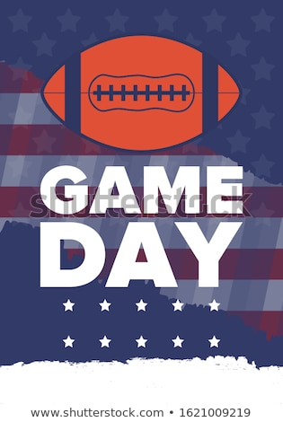 american football party vector background stock photo © m_pavlov
