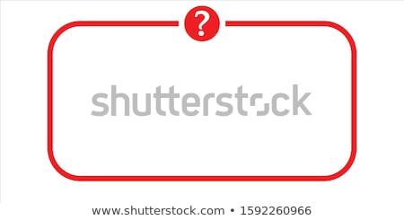 Faq vermelho vetor ícone projeto ajudar Foto stock © rizwanali3d
