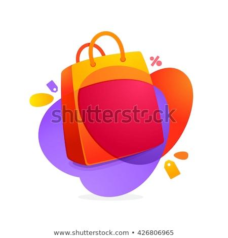 Christmas korting violet vector icon ontwerp Stockfoto © rizwanali3d
