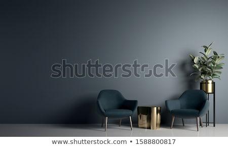 quadros · parede · ouvir · arte · quarto · interior - foto stock © Paha_L