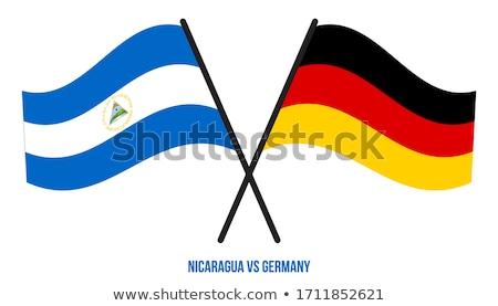 Alemanha Nicarágua bandeiras quebra-cabeça isolado branco Foto stock © Istanbul2009