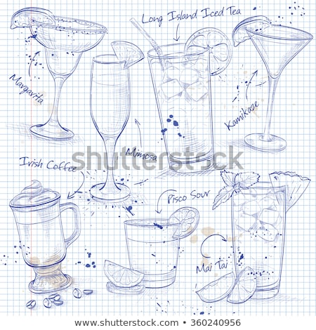 New Era Coctail Set  on a notebook page  Stock photo © netkov1