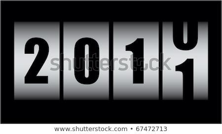 Новый год борьбе 2010 числа черный Сток-фото © Alsos