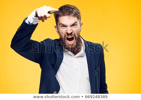 Screaming aggressive man. Stock photo © RAStudio