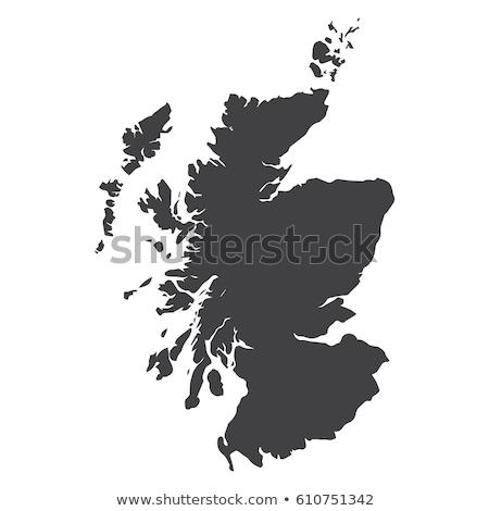 地図 スコットランド 背景 緑 旅行 行 ストックフォト © rbiedermann
