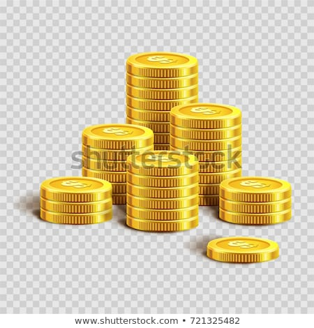 gold stack of dollar coins stock photo © maxpainter