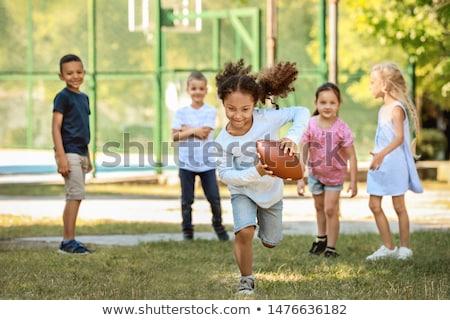 friends boys and girls running  Stock photo © mady70