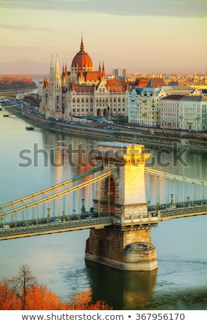 overview of budapest at sunrise stock photo © andreykr