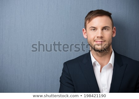closeup portrait of bearded man with open shirt stock photo © feedough