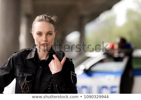 小さな 魅力のある女性 警察 ファッション ボディ セキュリティ ストックフォト © Elnur