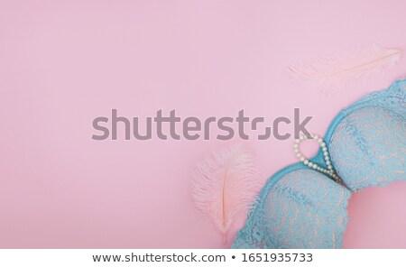 Fektet szépség rózsaszín melltartó gyönyörű hölgy Stock fotó © Novic
