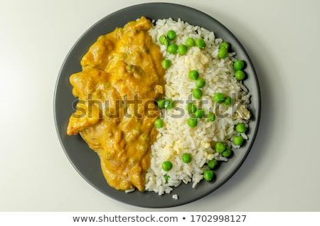 Stock fotó: Csirkemell · darabok · zöldségek · étel · tányér · hús