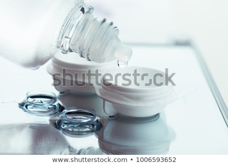 コンタクトレンズ ソリューション 実例 白 自然 連絡 ストックフォト © bluering