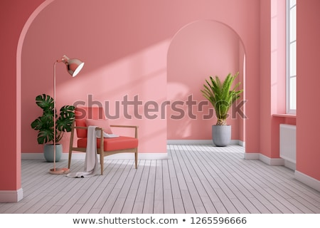 A modern pink house Stock photo © bluering