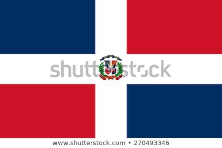 Bandera República Dominicana ilustración blanco signo olas Foto stock © Lom