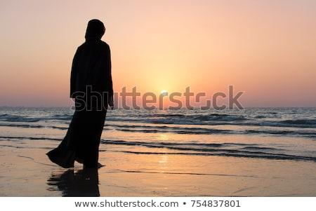 Stock fotó: Sziluett · muszlim · nő · hidzsáb · absztrakt · Isten