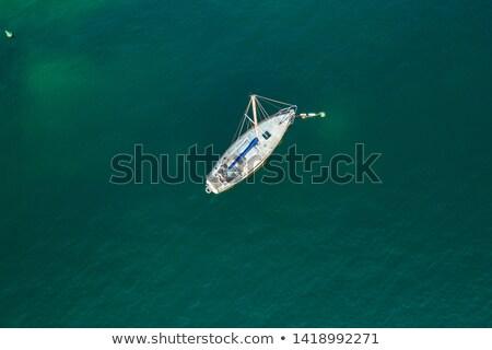Sailing boats anchoring in Lago di Garda Stock photo © Digifoodstock