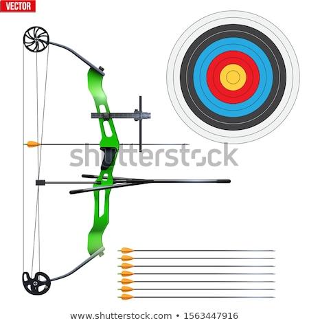 スポーツ 弓 孤立した 戦争 ホイール オブジェクト ストックフォト © user_9834712