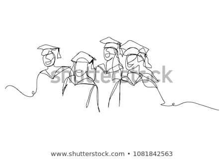 A drawing of a person graduating Stock photo © bluering