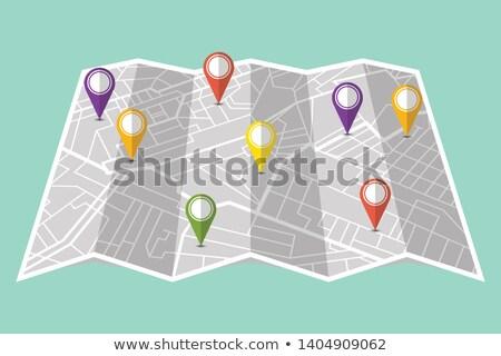 Infografía diferente distancia negocios mapa Foto stock © bluering