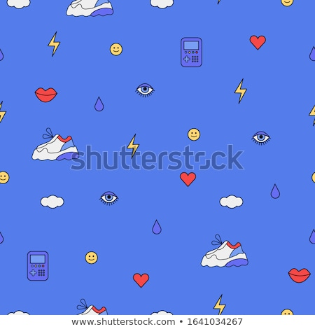 Seamless pattern with colored lips. Stock photo © biv