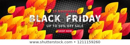 super sale yellow and black voucher design template Stock photo © SArts
