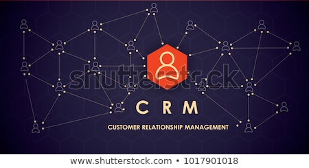 Corporate crm icon ontwerp business financieren Stockfoto © WaD