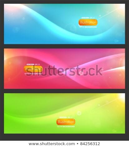 Meio-tom banners conjunto projeto abstrato moderno Foto stock © SArts