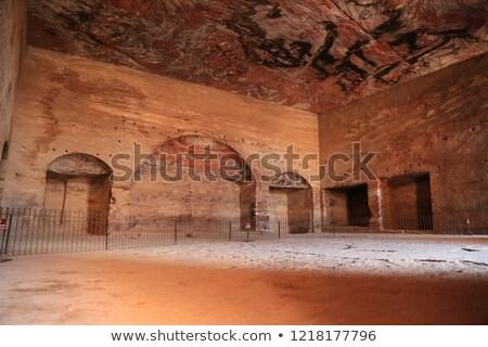 royal tomb rock arch petra jordan stock photo © billperry