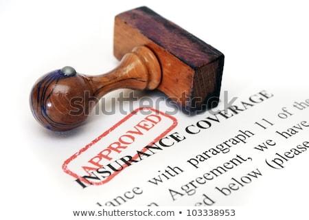 Saúde benefícios resumo seguro Foto stock © mybaitshop