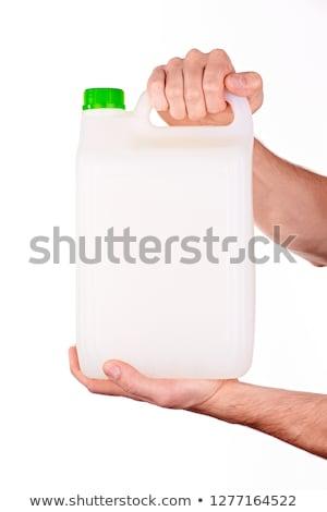 白 プラスチック タンク 女性 手 化学 ストックフォト © stevanovicigor