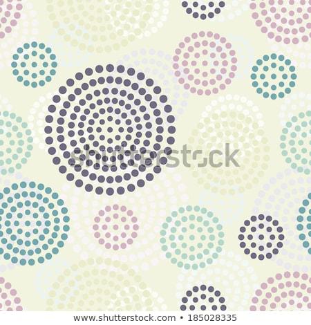 Colorido flor-de-rosa forma linhas retro cartaz Foto stock © SArts